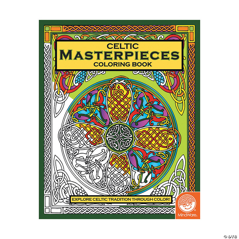 Mindware Celtic Masterpieces Adult Coloring Book