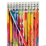 Watercolor Print Classroom Pencils