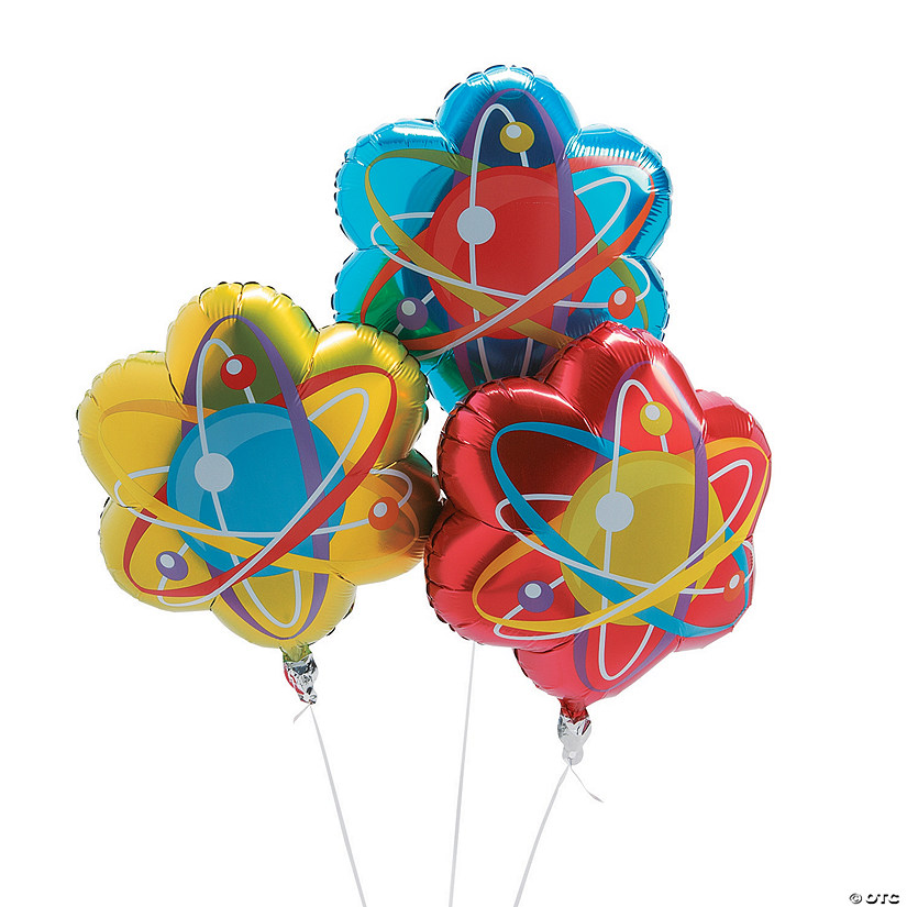 Science Party Mylar Balloons