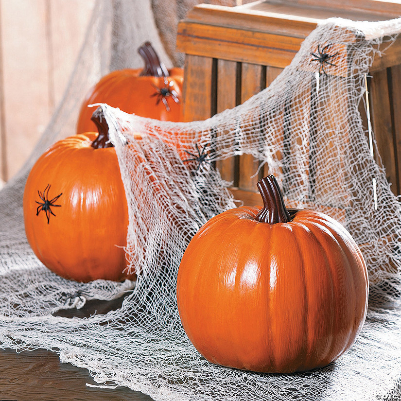 Foam Orange Pumpkin Halloween Decoration