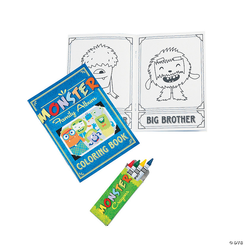 Monster Coloring Books With Crayons