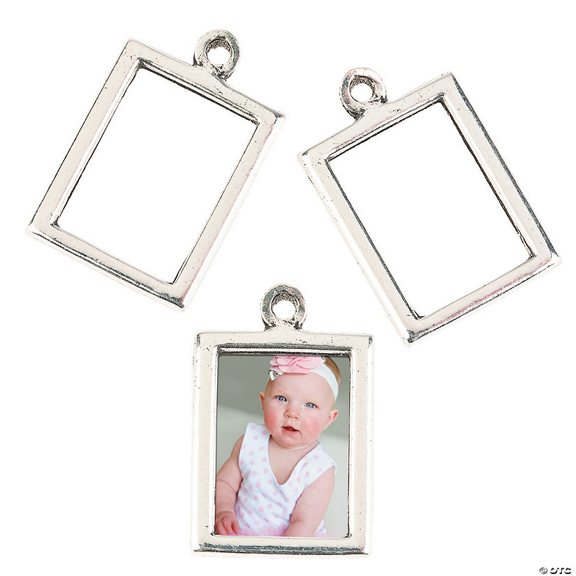 Silvertone Frame Charms