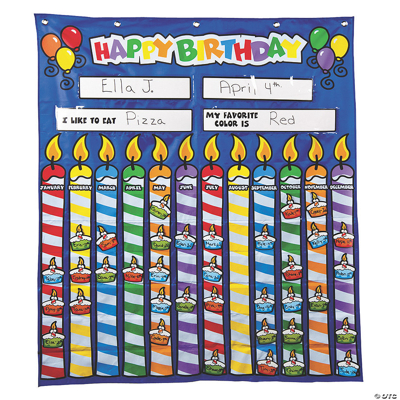 Happy Birthday Pocket Chart
