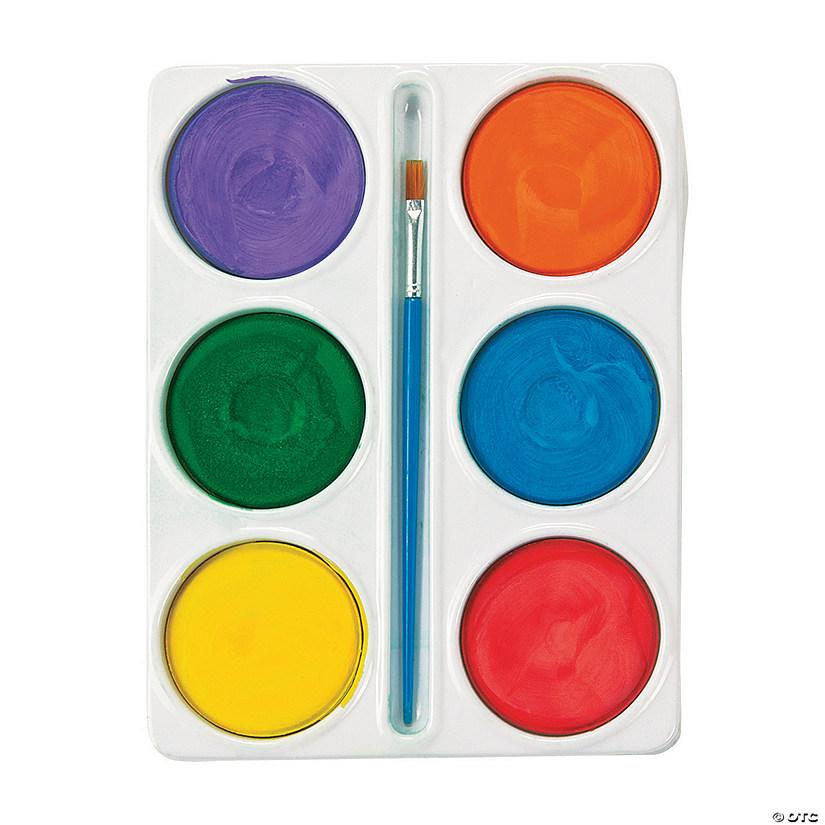 tempera paint cakes 6 colors