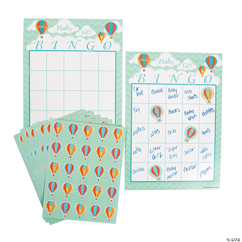 up away baby shower bingo game
