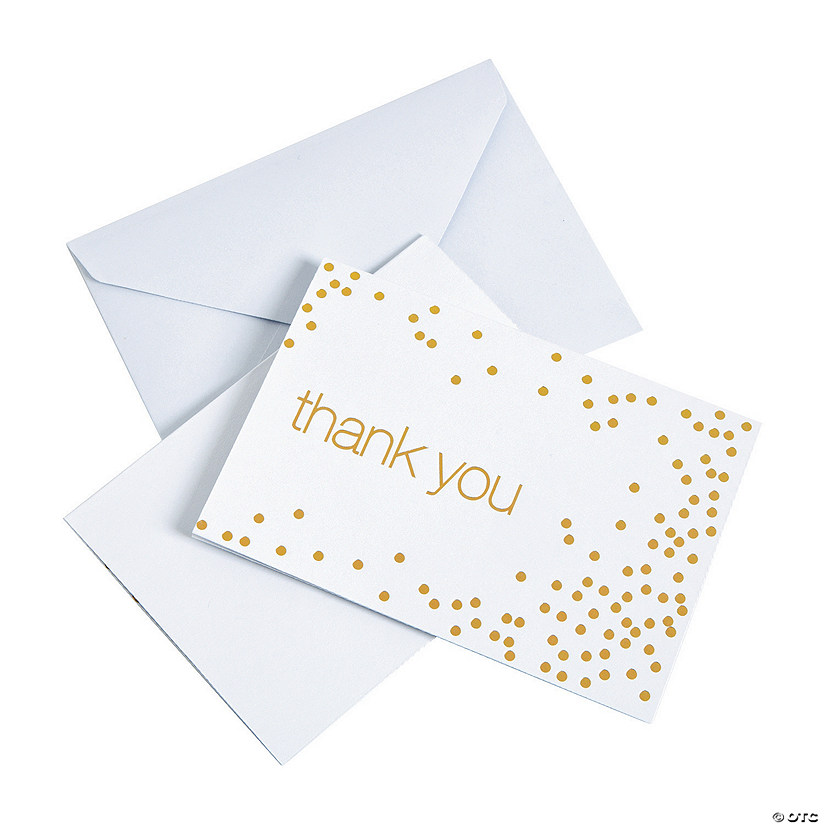 ab332bf946ebf Gold Foil Thank You Cards