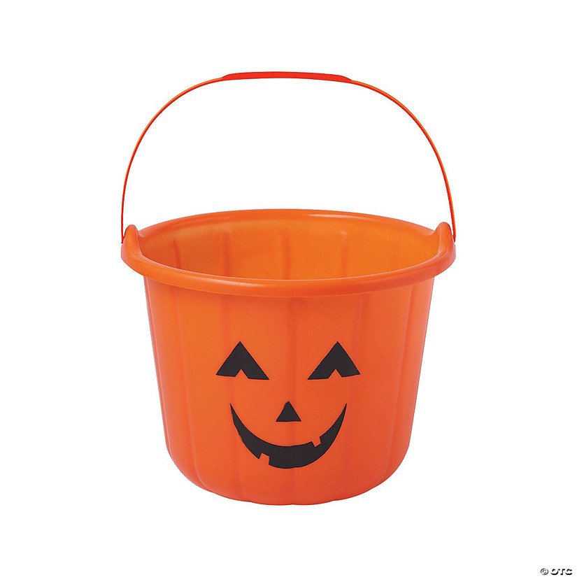 jack o lantern trick or treat buckets