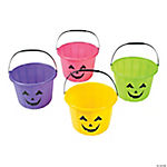 Neon Jack-O'-Lantern Trick-Or-Treat Buckets