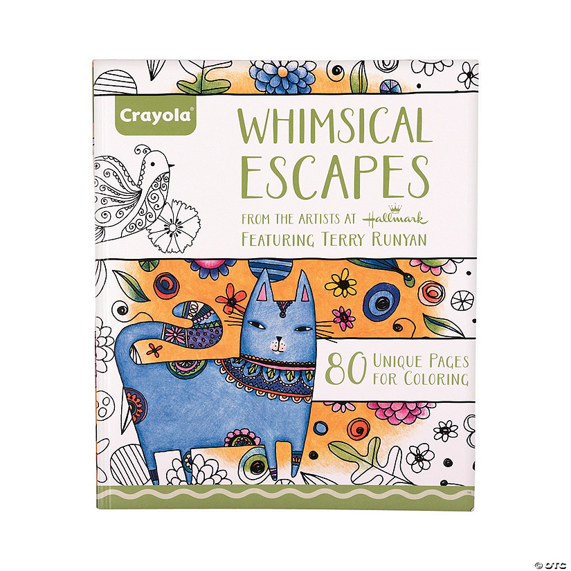 Crayola® Whimsical Escapes Adult Coloring Book - Discontinued