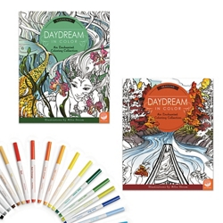 Daydream in Color: Set of 2 with 24 FREE Markers