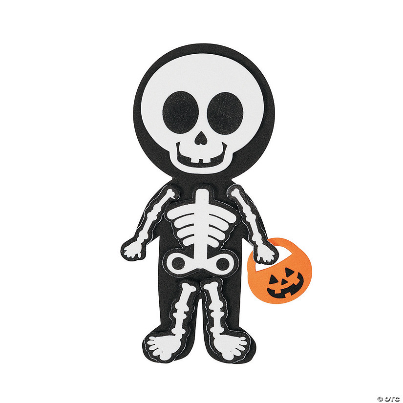 12 Halloween Skeleton Magnetic Craft KitsKids Halloween Crafts