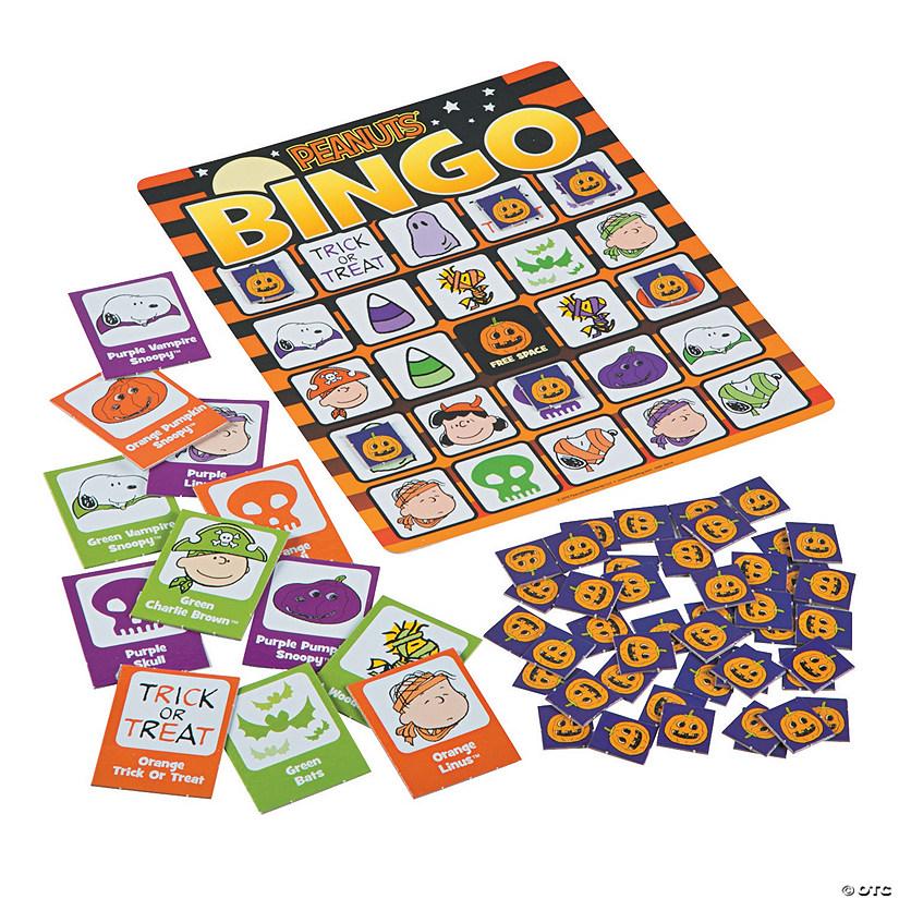 peanuts halloween bingo game