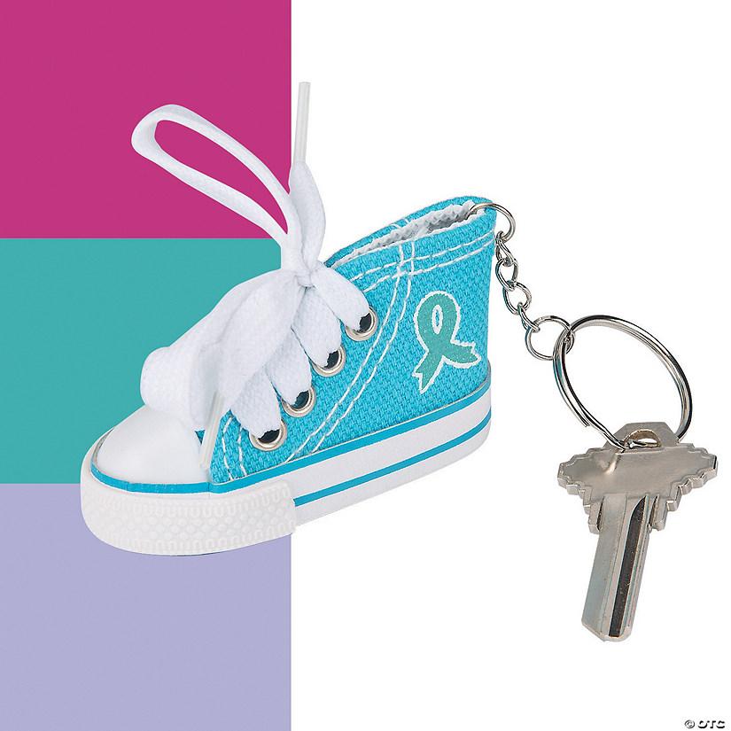 8b7b8761cdad0 Awareness Ribbon Tennis Shoe Keychains