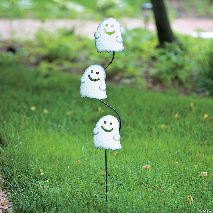 stacked ghosts yard sign halloween dcor