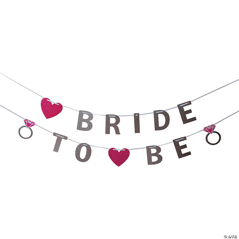 Glitter Bride To Be Paper Banner Oriental Trading