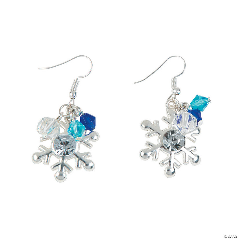 Winter Snowflake Earrings Craft Kit
