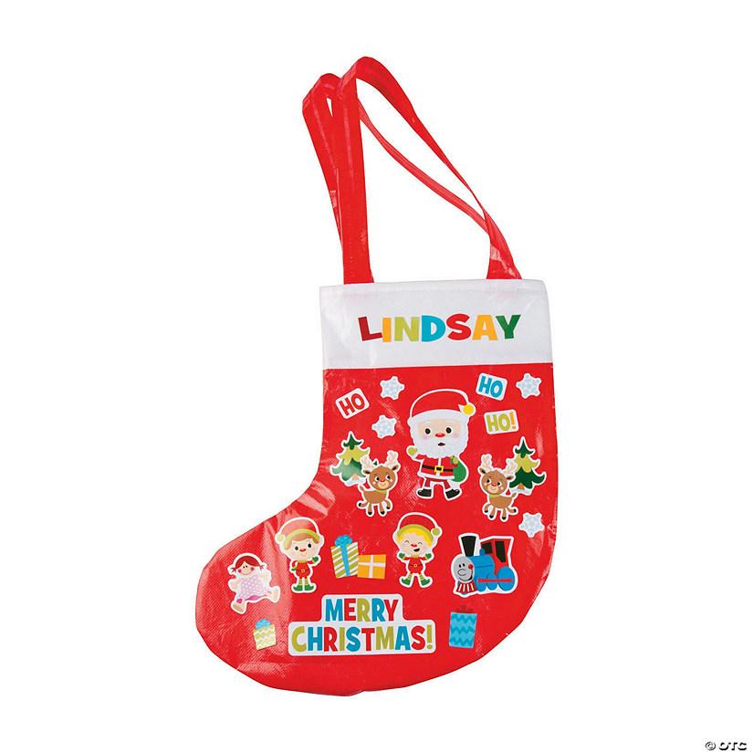christmas stocking tote bag craft kit