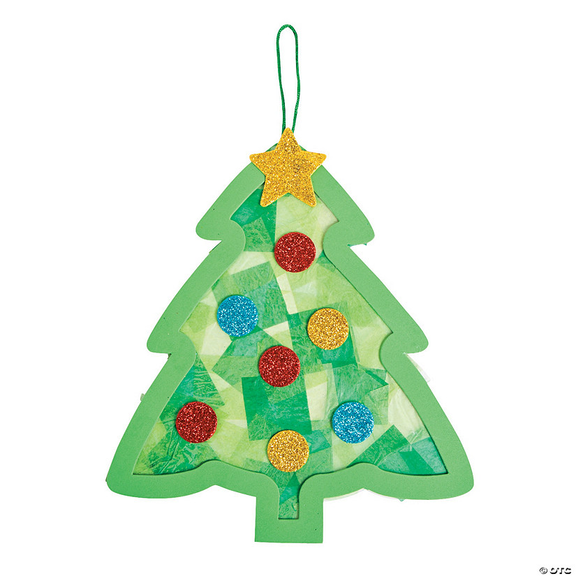 Tissue Paper Christmas Decorations