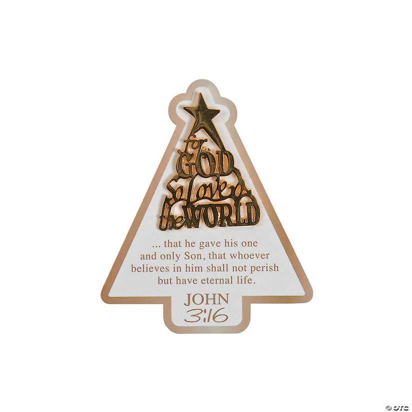 John 316 Christmas Tree Pins On Card
