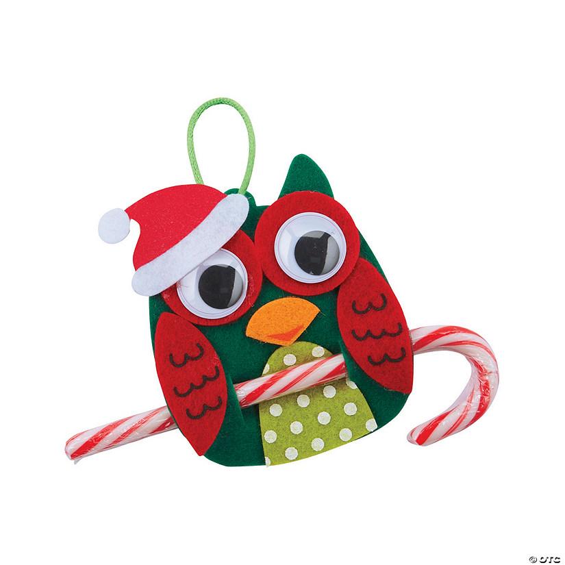 Christmas Owl.Christmas Owl Candy Cane Ornament Craft Kit