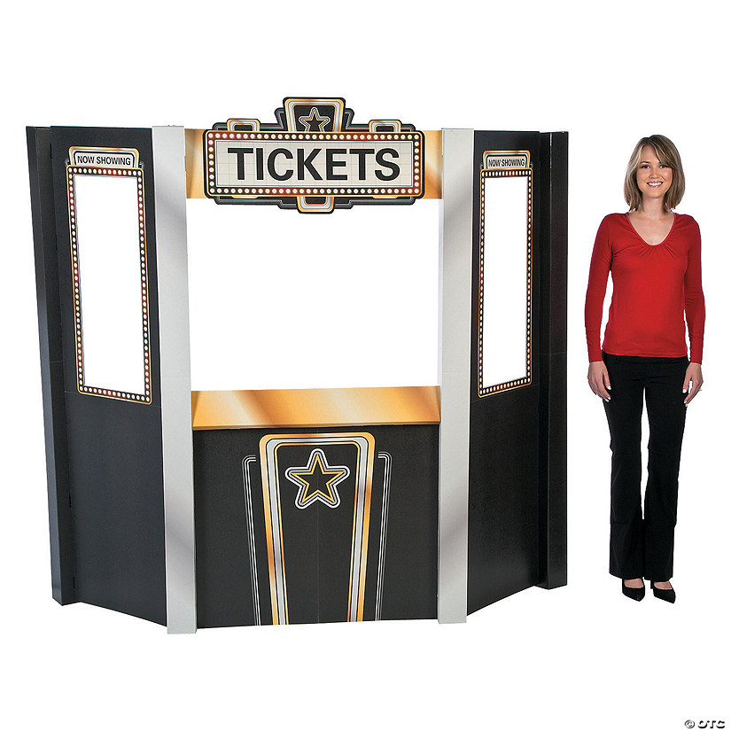 Movie Night Theater Ticket Booth Cardboard Stand Up