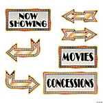 Movie Night Directional Sign Cutouts