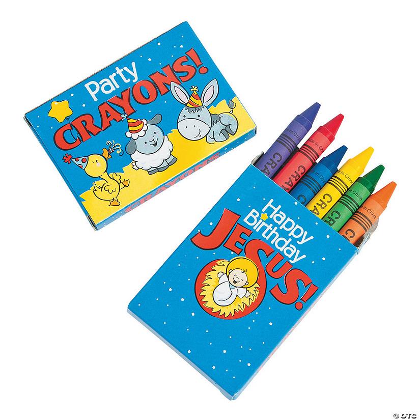 6 Color Happy Birthday Jesus Crayons 24 Boxes