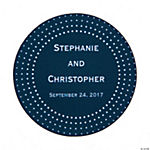 Personalized Chic Dots Wedding Favor Stickers