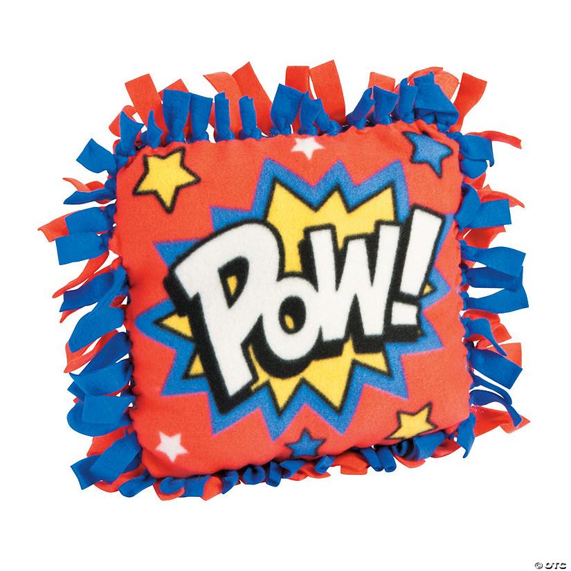 Fleece Superhero Tied Pillow Craft Kit