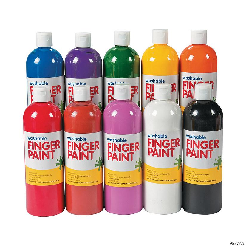 washable finger paint set 16 oz