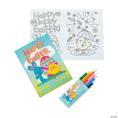 Easter Coloring Books With Colored Pencils Oriental Trading