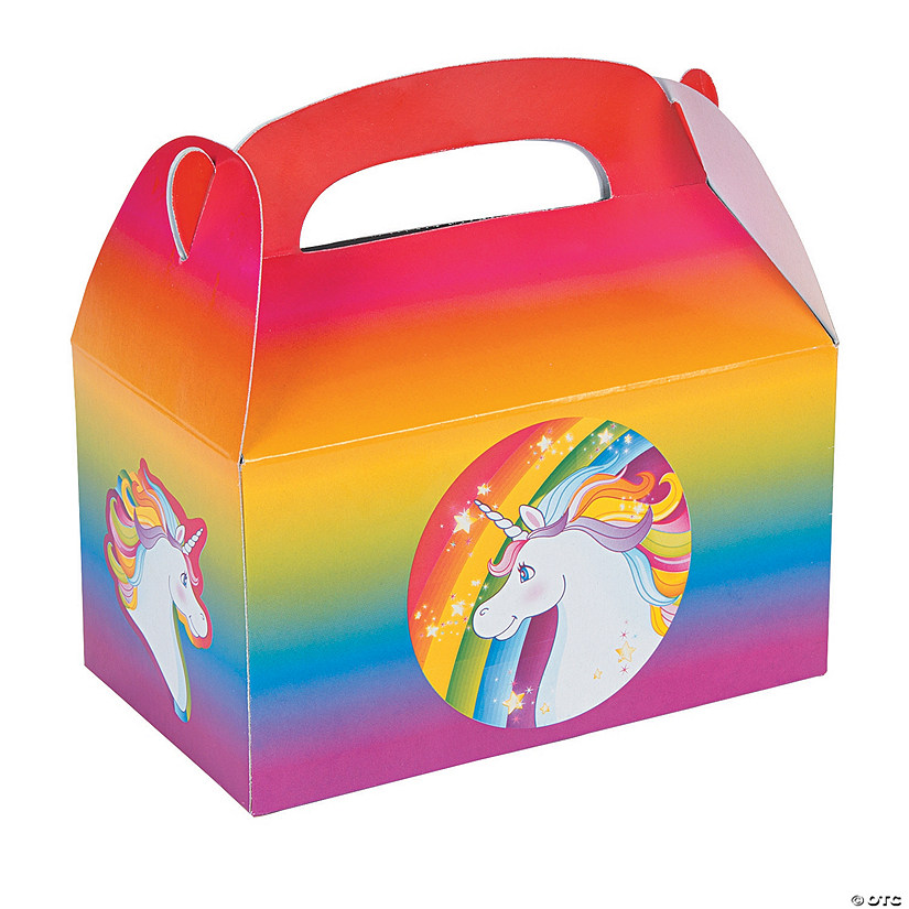 Unicorn Treat Boxes Oriental Trading