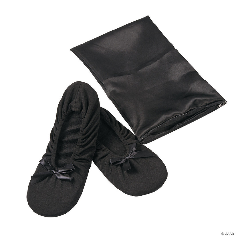 Black Foldable Ballet Flats Smmed