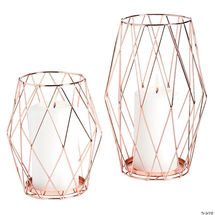 rose gold candle holder set. Black Bedroom Furniture Sets. Home Design Ideas
