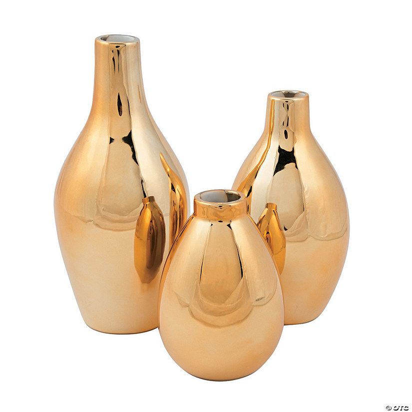 Awesome Gold Metallic Vase Set Home Interior And Landscaping Ologienasavecom