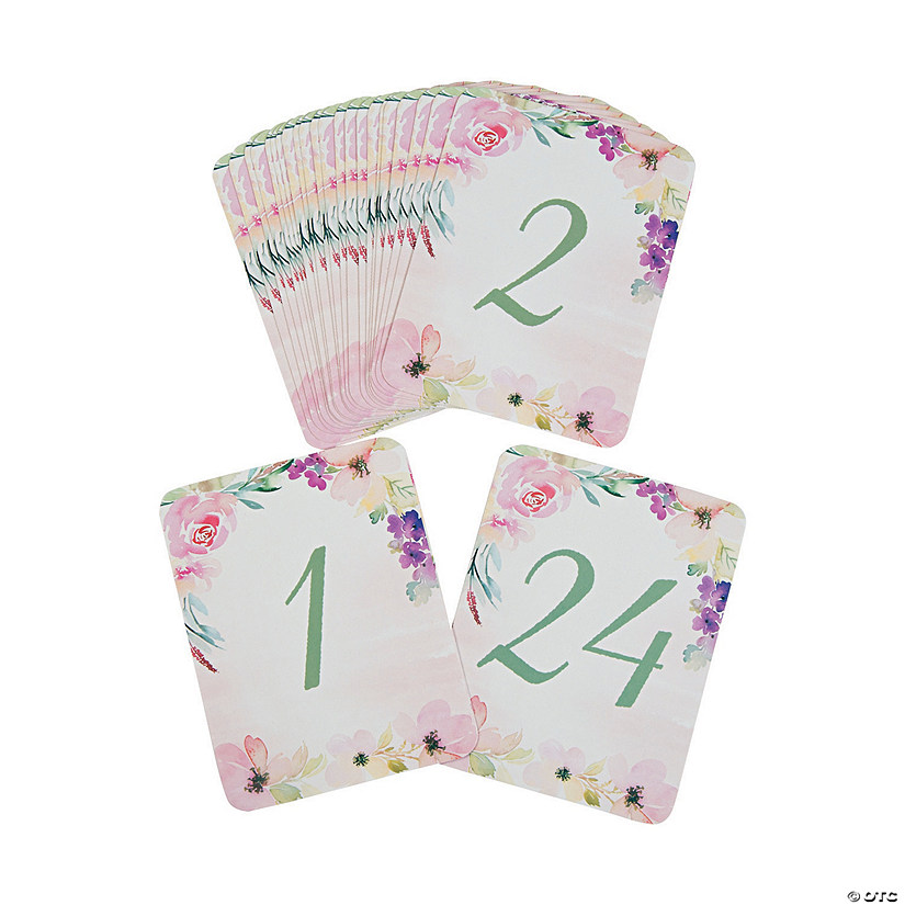 Garden Party Table Numbers Oriental Trading