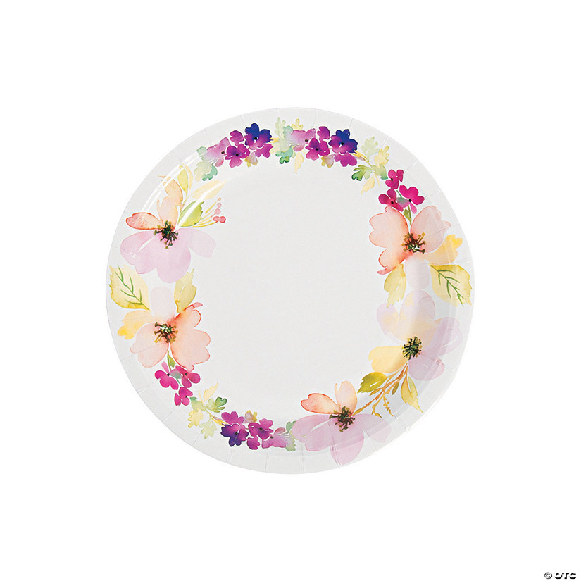 Spring Floral Party Paper Plates 8 Ct.