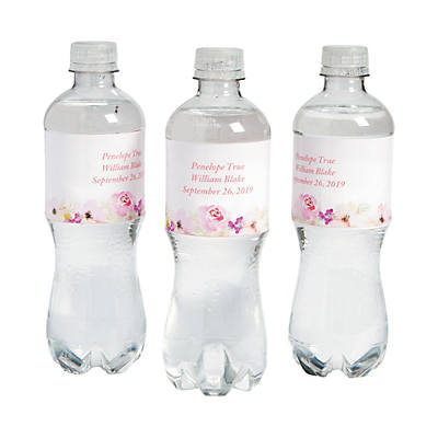 Personalized Garden Party Water Bottle Labels Oriental Trading