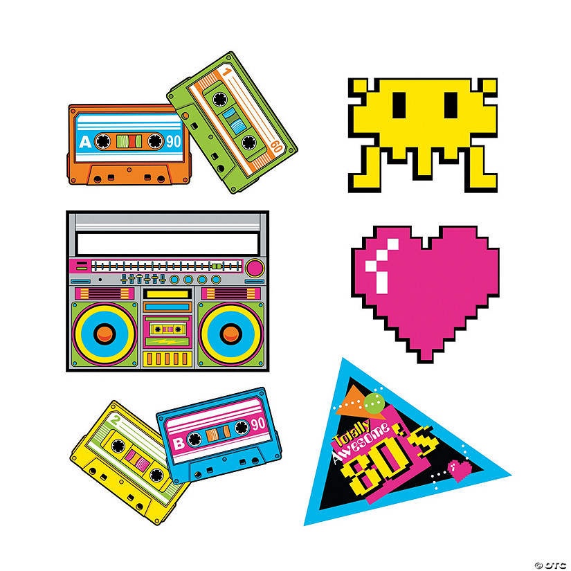 80s Party Cutouts | Oriental Trading