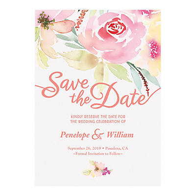 personalized garden party save the date cards