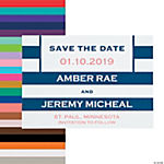 Personalized Simple Stripe Save the Date Cards