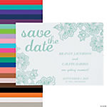 Personalized Lace Pattern Save the Date Cards