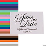 Personalized Traditional Script Save the Date Cards