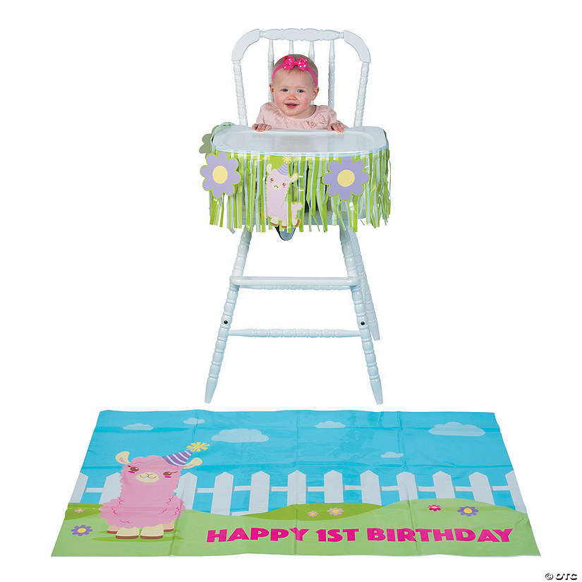 Lil Llama 1st Birthday High Chair Decorating Kit