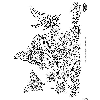 Butterfly Adult Coloring Page Free