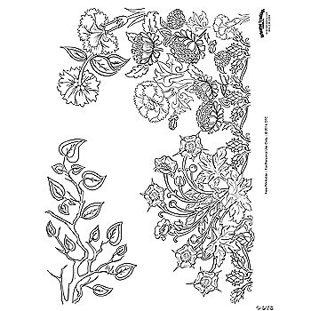 Garden Scene Adult Coloring Page Free Printable Oriental