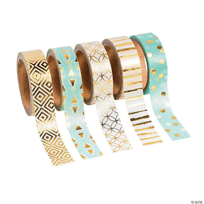 Turquoise Gold Washi Tape Oriental Trading