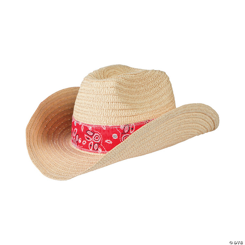 Western Cowboy Hats with Red Bandana c2987b42f0ca