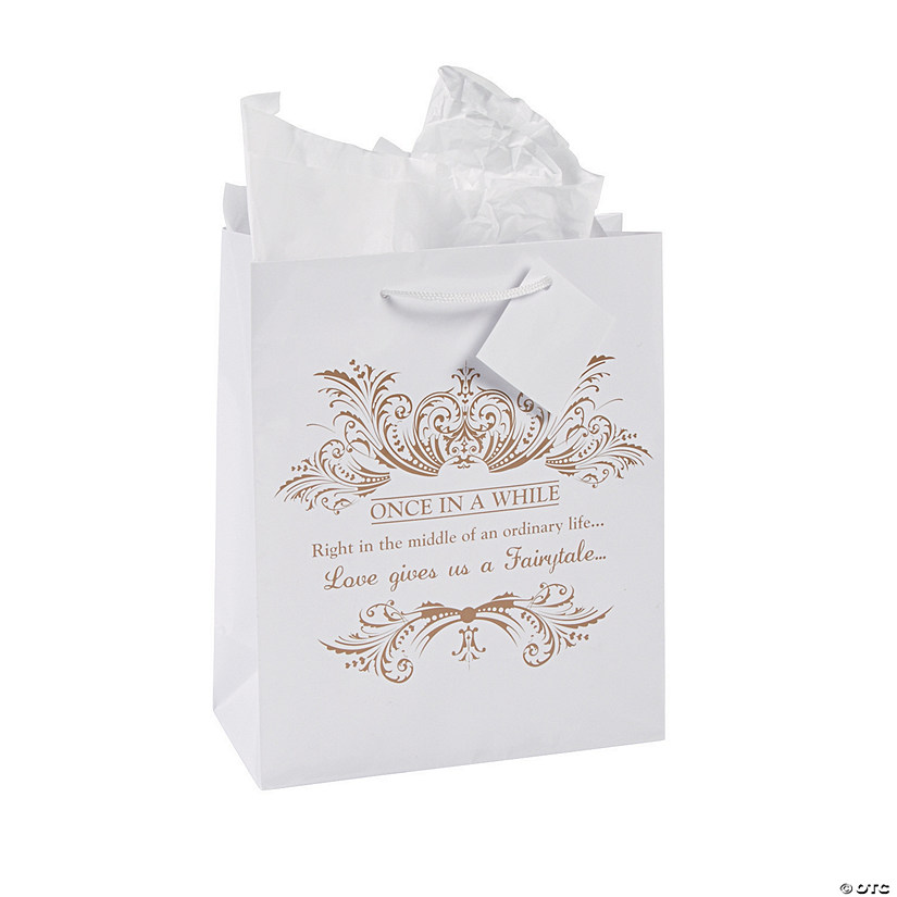 Gift Bags Wedding: Medium Fairy Tale Wedding Gift Bags With Tags
