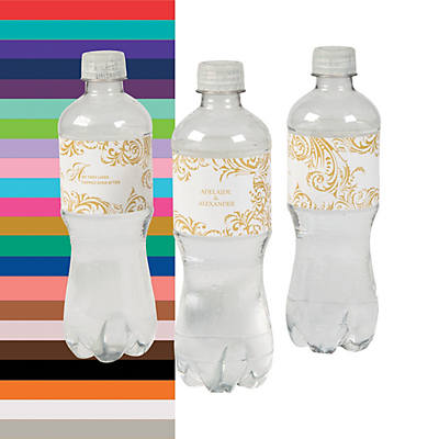 Personalized Fairy Tale Wedding Water Bottle Labels